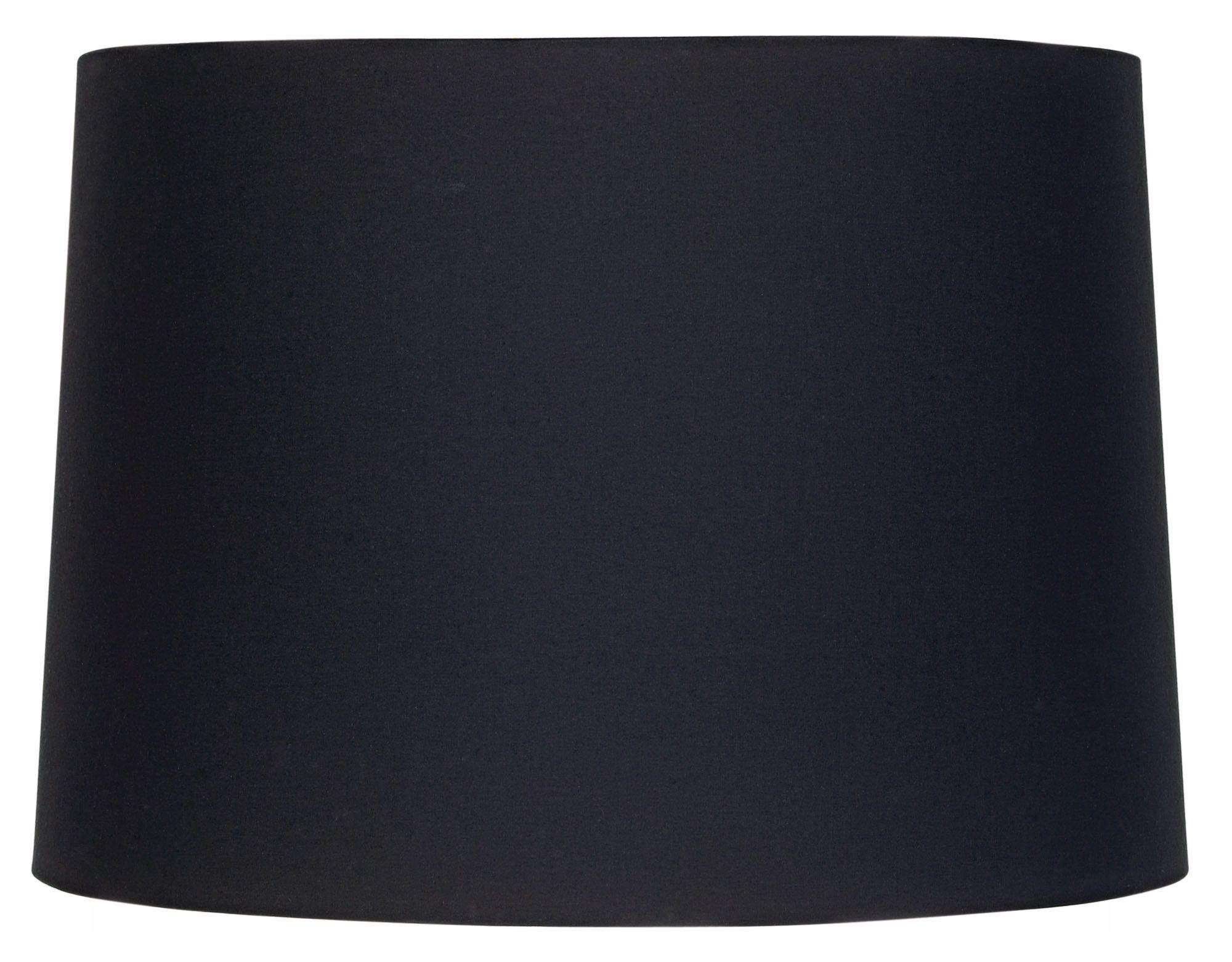 black fabric drum shade 11x12x85 spider