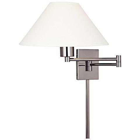 George Kovacs Boring Nickel Plug-In Swing Arm Wall Lamp