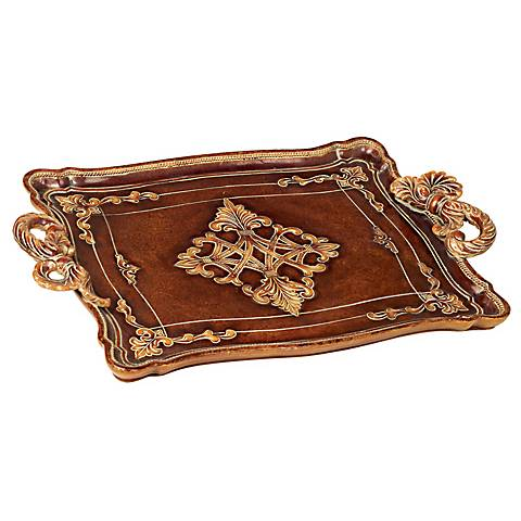 Traditional Serving Tray with Rope Style Handles