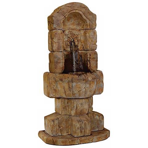 "Henri Studio 70""H Granada Fleur de Lis Cast Stone Fountain"