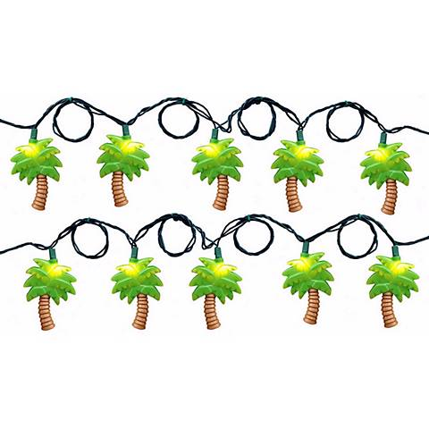 Palm Tree Themed Plastic String Party Lights