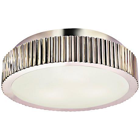 "Sonneman Paramount 16 1/2""W Polished Nickel Ceiling Light"