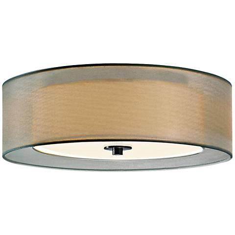 "Sonneman Puri 16"" Wide Satin Nickel Ceiling Light"