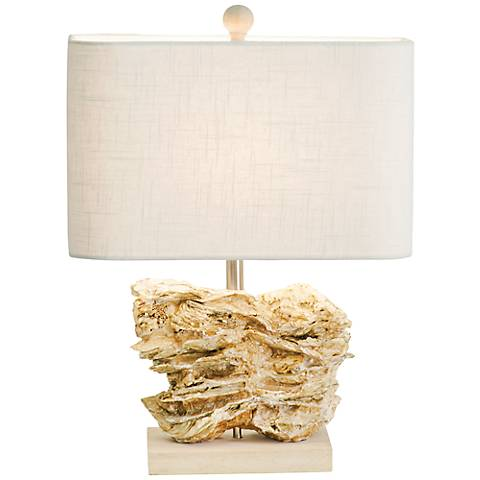 Couture Coastal Retreat Natura Oyster Shell Table Lamp
