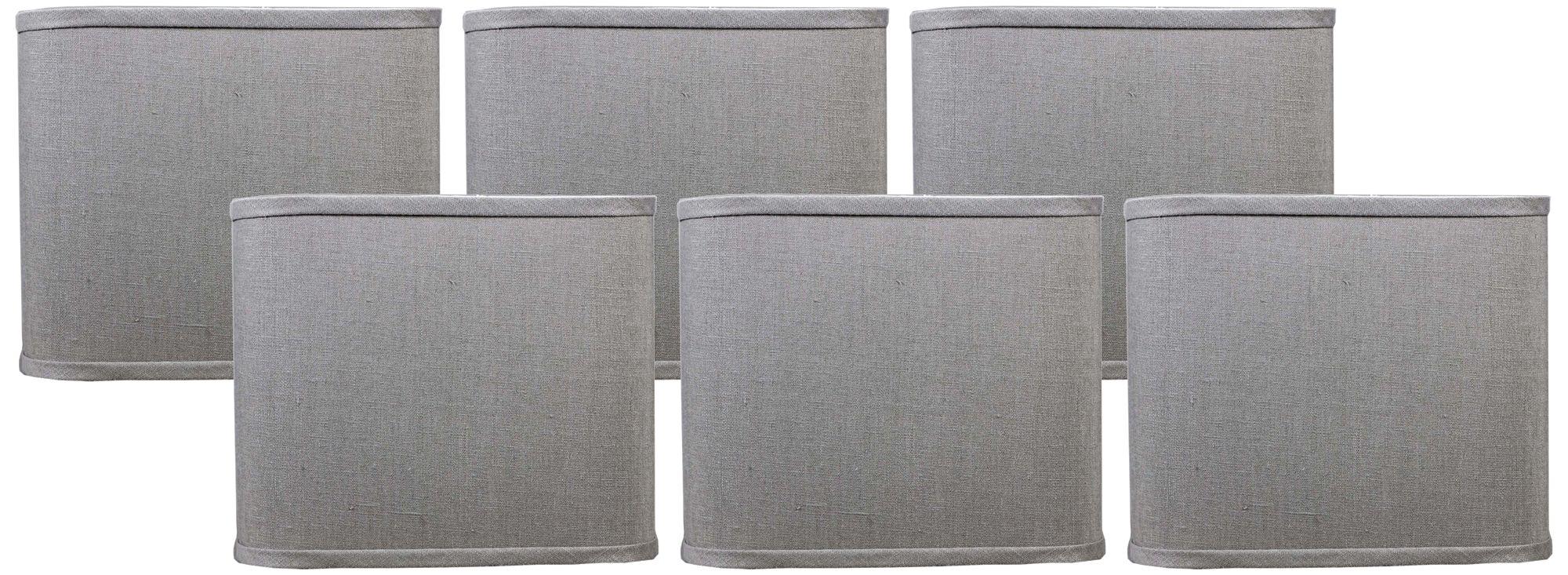 true gray linen set of 6 square lamp shades 5x5x5 clipon