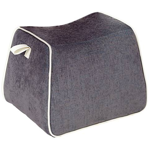 Rory Blue Fabric Saddle Ottoman