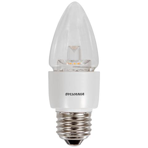 40W Equivalent Clear 6W LED Dimmable Blunt Tip Standard Bulb