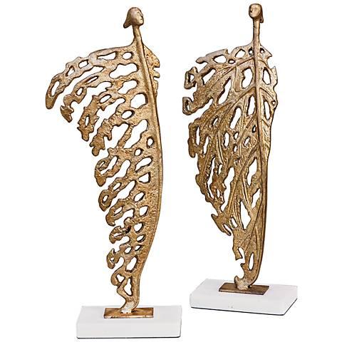 "Decorative He Imp 15 3/4"" High Gold Leaf Sculpture"
