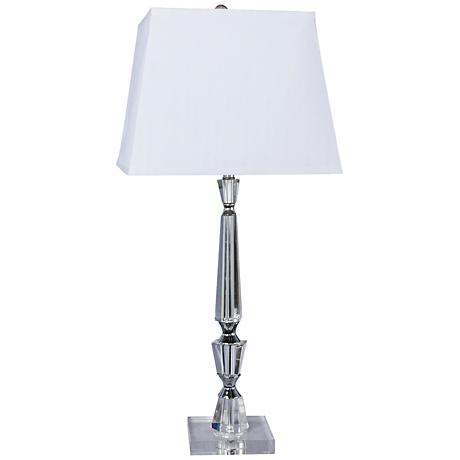 turrelle crystal and chrome table lamp 8c509 lamps plus. Black Bedroom Furniture Sets. Home Design Ideas