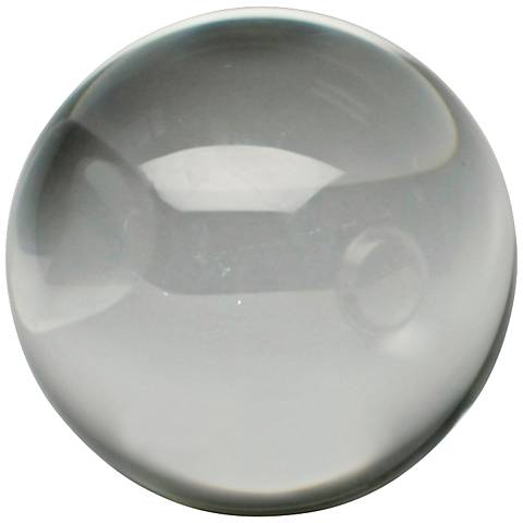 "Crystal Clear 6"" Round Decorative Sphere"