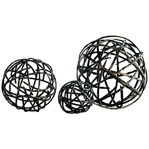 Strap Black Bronze Medium Decorative Sphere