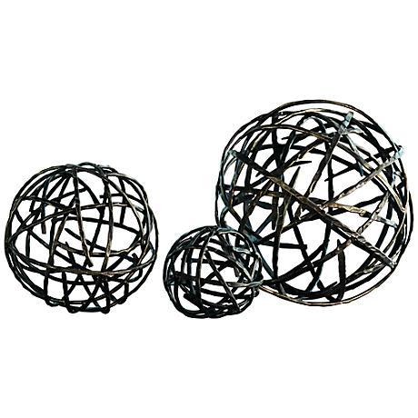 Strap Black Bronze Medium Decorative Sphere