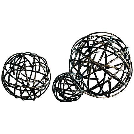 Strap Black Bronze Small Decorative Sphere