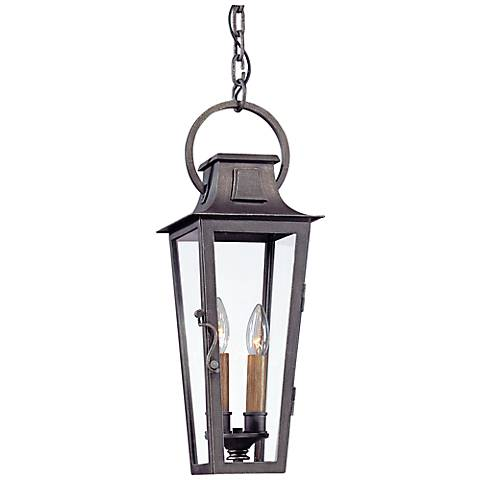 """Parisian Square 20 1/2""""H  Aged Pewter Outdoor Hanging Light"""
