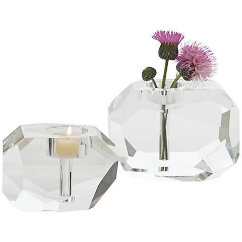 Gemstone Bud Vase Large Crystal Tealight Candle Holder
