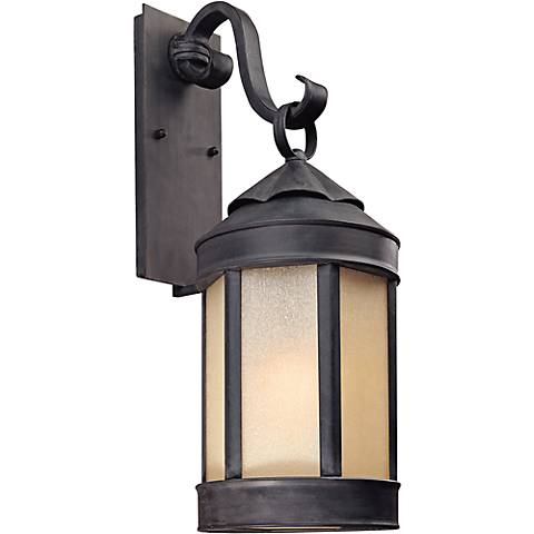 """Anderson Forge 24"""" High Antique Iron Outdoor Wall Light"""