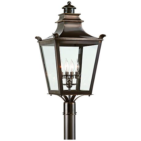 "Dorchester 29"" High English Bronze Outdoor Post Light"