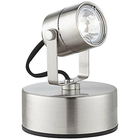 Brushed Steel 50 Watt Plug-In Mini Accent Uplight