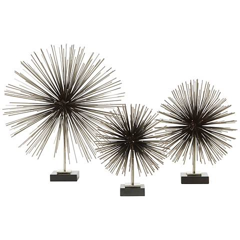 "Boom Nickel 11 3/4"" High Tabletop Sculpture"