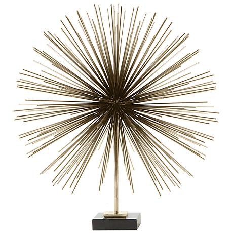 """Boom Brass 20 1/4"""" High Tabletop Sculpture"""