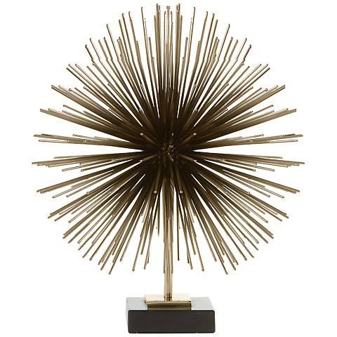 """Boom Brass 14"""" High Tabletop Sculpture"""