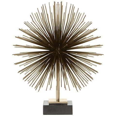 """Boom Brass 11 3/4"""" High Tabletop Sculpture"""