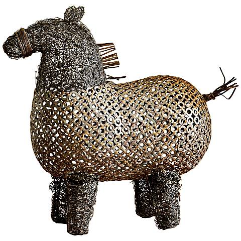 "Crazy Fat Pony 18"" Wide Bronze Sculpture"
