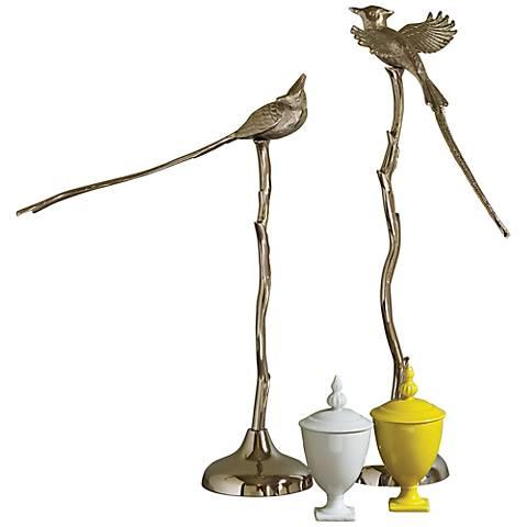 "Sitting Jay Bird 22 1/2"" High Decorative Sculpture"
