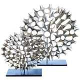 """Cosmos Nickel 25 1/2"""" High Decorative Sculpture"""