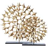 "Cosmos Gold 37 1/2"" High Decorative Sculpture"