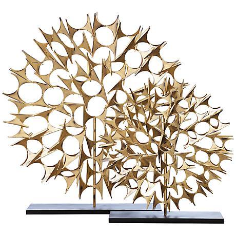 "Cosmos Gold 37 1/2"" High Decorative Sculpture"