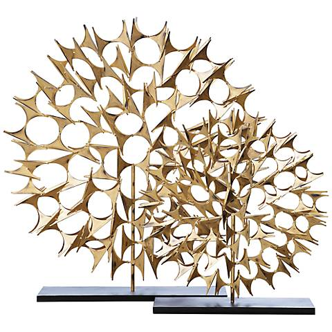 "Cosmos Gold 25 1/2"" High Decorative Sculpture"