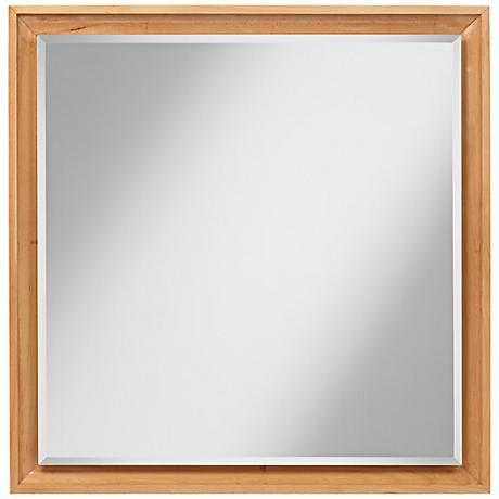 "Harrin Maple Wood 33 1/2"" Square Wall Mirror"