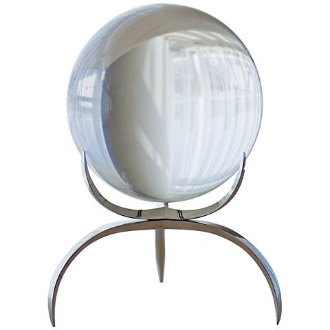 "Contemporary Clear 7 1/2"" High Crystal Orb"