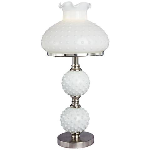 Sollo Brushed Steel Hobnail Table Lamp