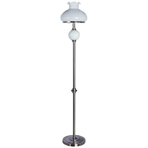 Sollo Brushed Steel Hobnail Floor Lamp