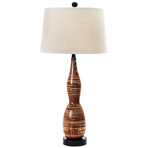 Swahi Tribal Brown Ceramic Table Lamp