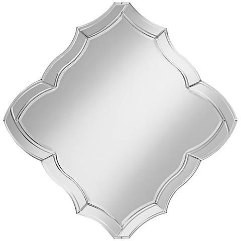 "Spadaro Scalloped 39 1/4"" Wide Diamond Wall Mirror"