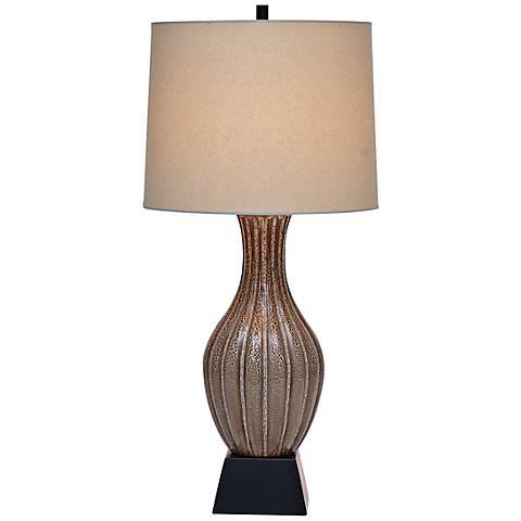Port 68 Montrose Mocha Brown Porcelain Table Lamp