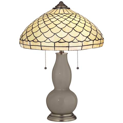 Backdrop Gourd Table Lamp with Scalloped Shade