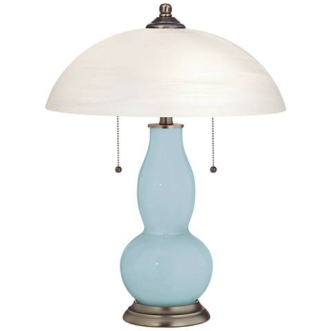 Vast Sky Gourd-Shaped Table Lamp with Alabaster Shade