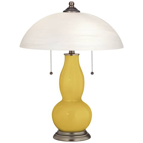 Nugget Gourd-Shaped Table Lamp with Alabaster Shade