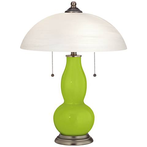 Tender Shoots Gourd-Shaped Table Lamp with Alabaster Shade