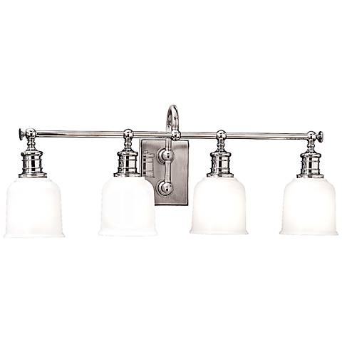 Hudson valley keswick 4 light 29 wide chrome bath light 8c931 lamps plus for How to clean pitted chrome bathroom fixtures