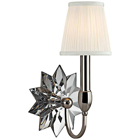 "Hudson Valley Barton 13 1/2""H Polished Nickel Wall Sconce"