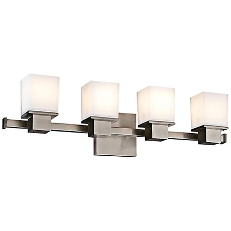 "Hudson Valley Milford 4-Light 24"" Wide Nickel Bath Light"