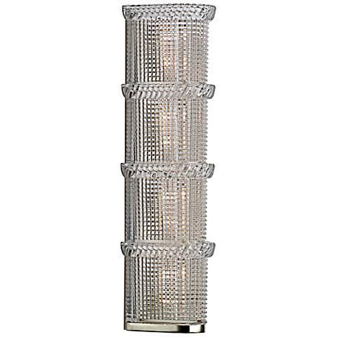 """Hudson Valley Blythe 4-Light 17 3/4""""H Nickel Wall Sconce"""