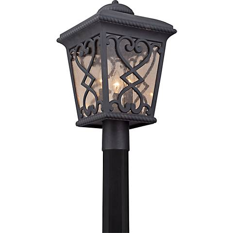 """Quoizel Fort Quinn 19""""H Marcado Black Outdoor Post Light"""
