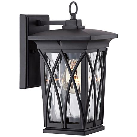 "Quoizel Grover 11"" High Mystic Black Outdoor Wall Light"