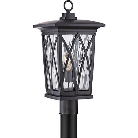 "Quoizel Grover 20 1/2""H Mystic Black Outdoor Post Light"